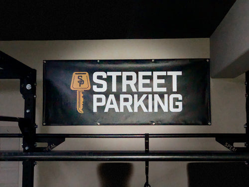 Garage Gym Banner - Street Parking