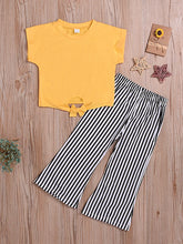 Load image into Gallery viewer, Yellow Striped Outfit
