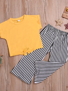 Yellow Striped Outfit