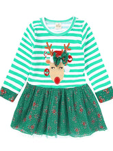 Load image into Gallery viewer, Green and Red Reindeer Dress
