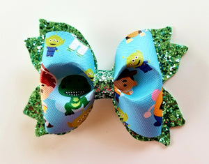 Blue Toy Story Hair Bow