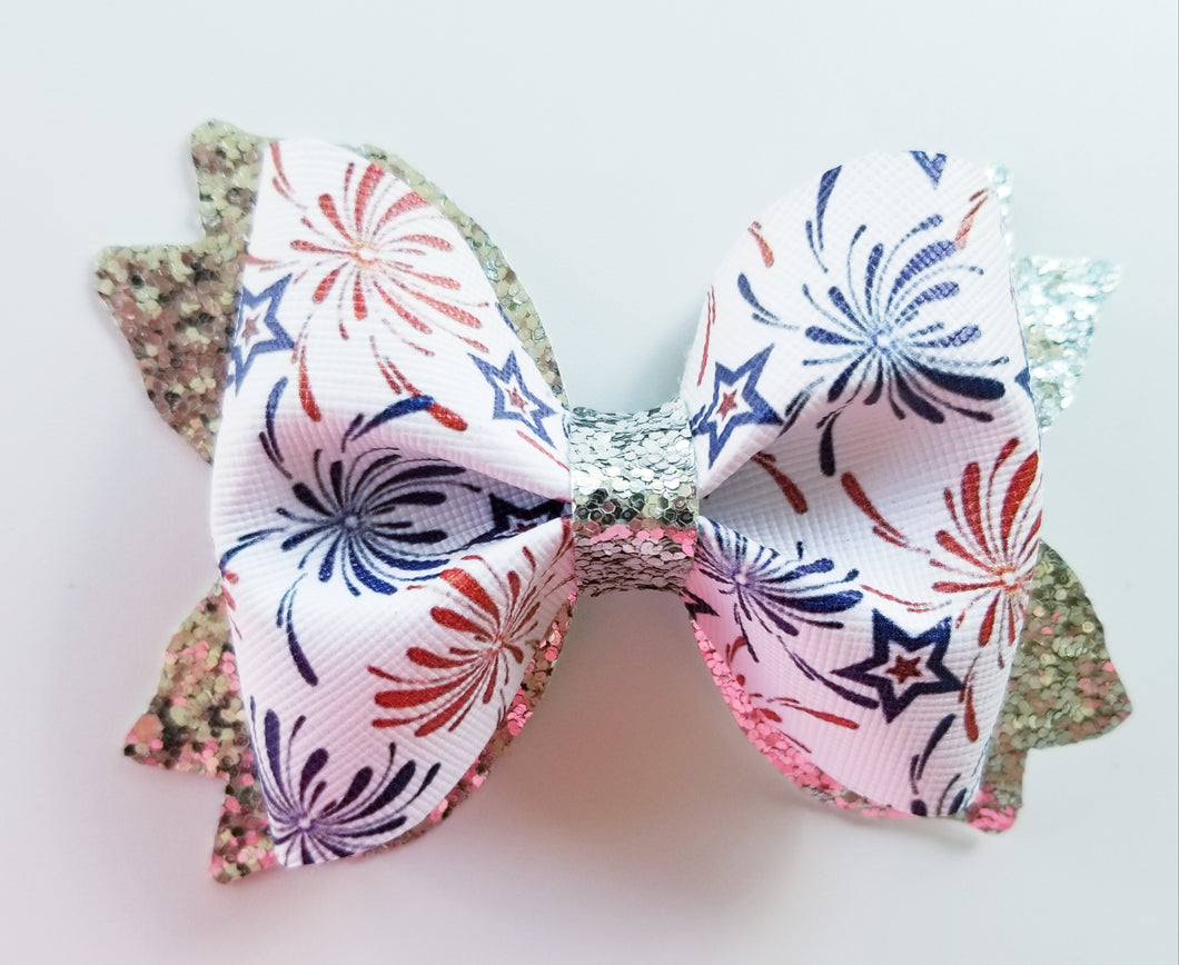 Fireworks Hair Bow