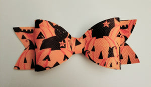 Pumpkin Cat Hairbow