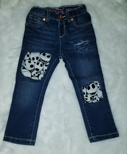 Girls Destressed Jack the Skeleton Skinny Jeans