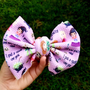 Purple Hocus Pocus Hairbow