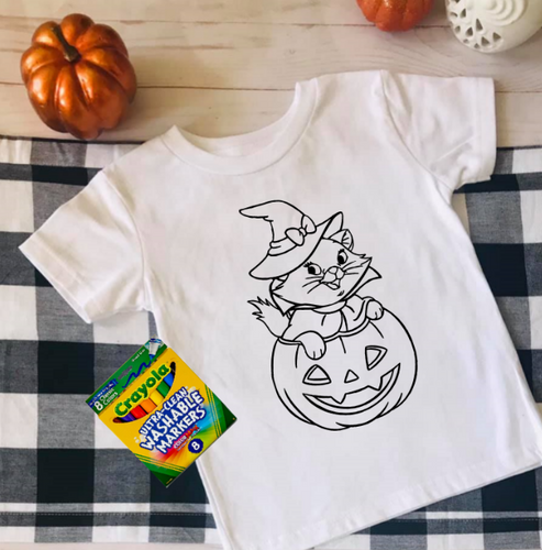 Pumpkin Cat Coloring Shirt
