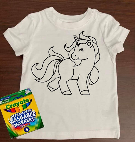 Unicorn Coloring Shirt