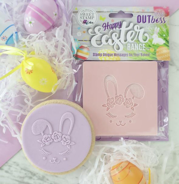 Sweet Stamp - Out Boss - Easter Rose Crown Bunny