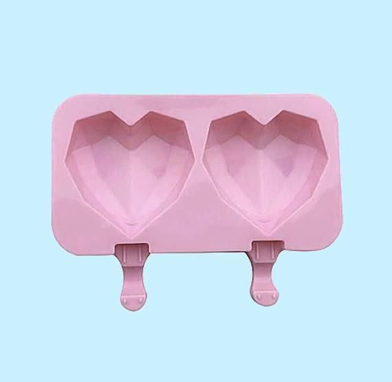 Geometric Heart Cakesicle Mould
