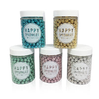 Happy Sprinkles - Small Edible Metallic Sprinkles