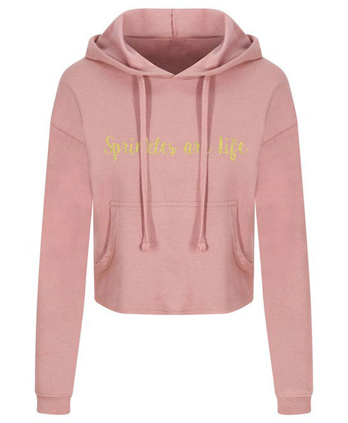 Sprinkles are Life - Gold Glitter - Cropped Hoody