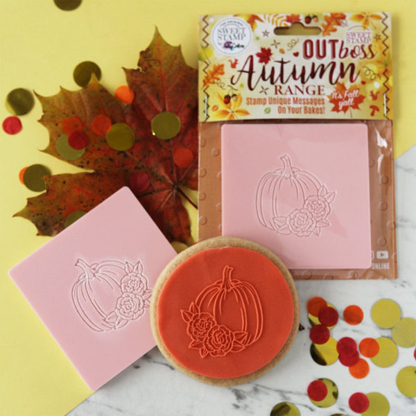 Sweet Stamp - Out Boss - Floral Pumpkin