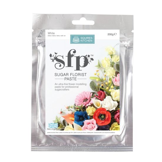 Squires Kitchen Sugar Florist Paste WHITE 200g
