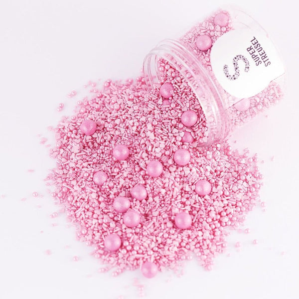 Super Streusel Light Pink - Sprinkle With Chocolate Balls 90g