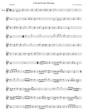 Load image into Gallery viewer, Cold and Frosty Morning Violin Sheet Music - Arranged by Katy Adelson