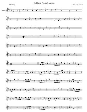 Cold and Frosty Morning Violin Sheet Music - Arranged by Katy Adelson