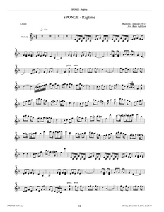 SPONGE (Ragtime) Violin Sheet Music - Arranged by Katy Adelson
