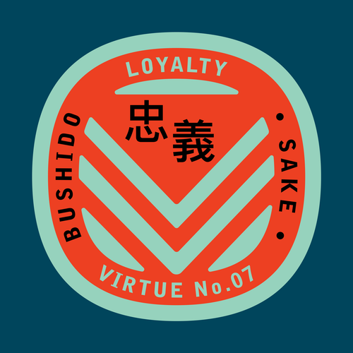 Bushido virtue sticker featuring Loyalty against blue background