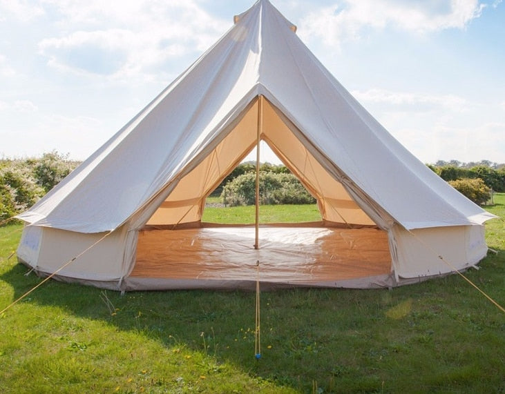 double door cotton canvas bell tent