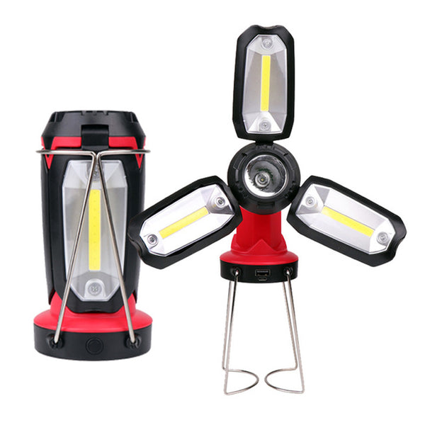 USB Camping Fan Light