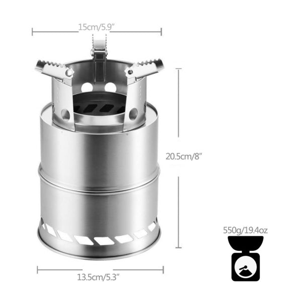 Folding Windproof Wood Stove