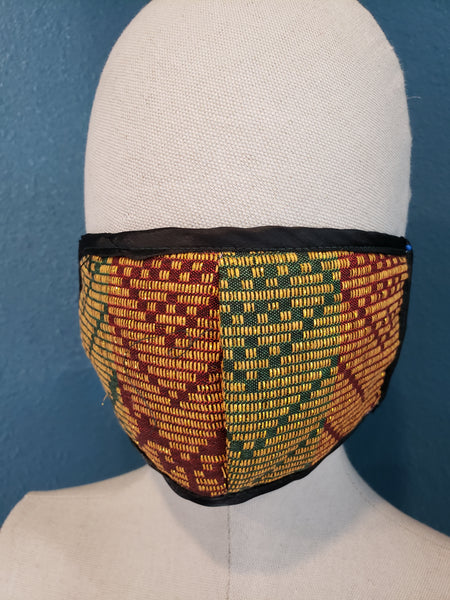 Maguindanao Inaul Mask with Lining and Filter Pocket