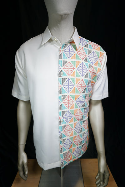 Short Sleeve Yakan Handwoven Top