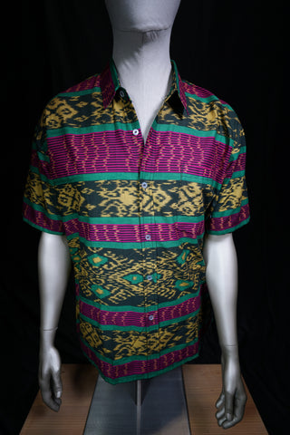 Batik Short Sleeve Button Up