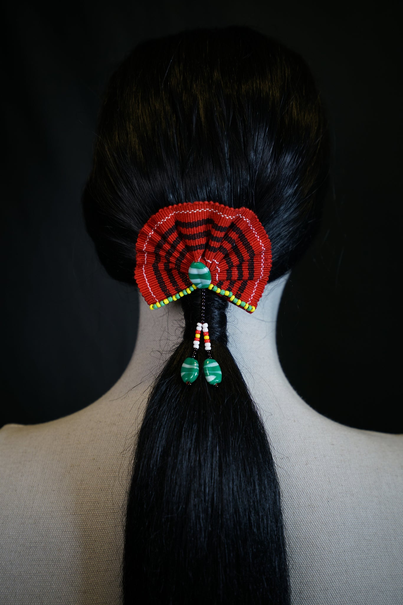 Kalinga Beaded Woven Hair Clip