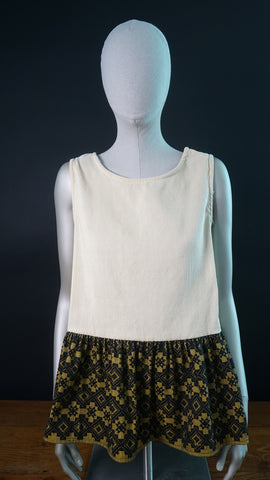 Inabel Woven flared bottom sleeveless top