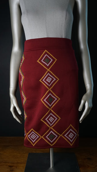T'boli Inspired Embroidered Skirt