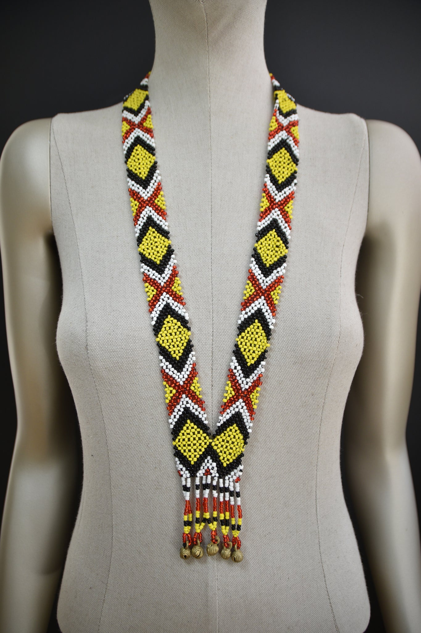 T'boli Beaded Necklace w/ Bells