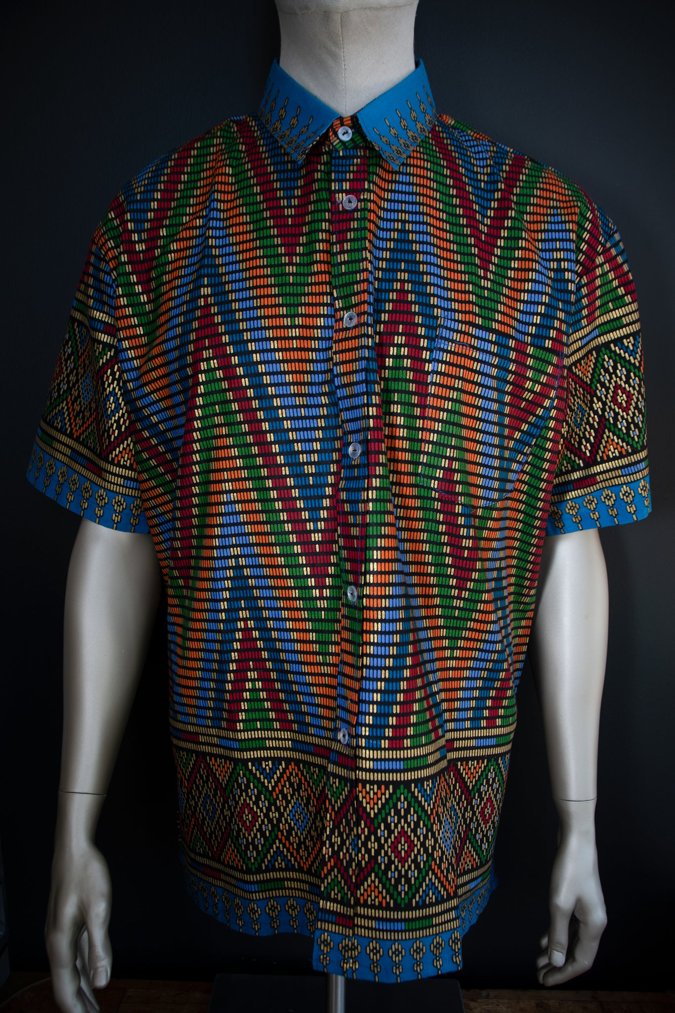 Batik Short Sleeve Button Ups