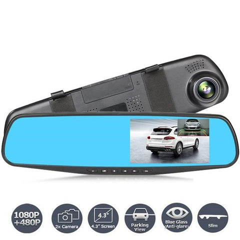 Night Vision Car Rearview Mirror Digital Video Recorder 1080P