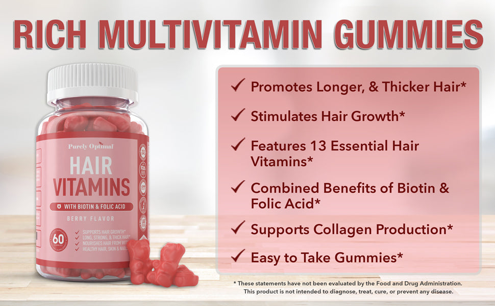hair gummy vitamins benefits