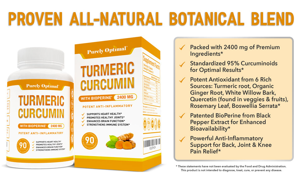 purely optimal turmeric curcumin benefits