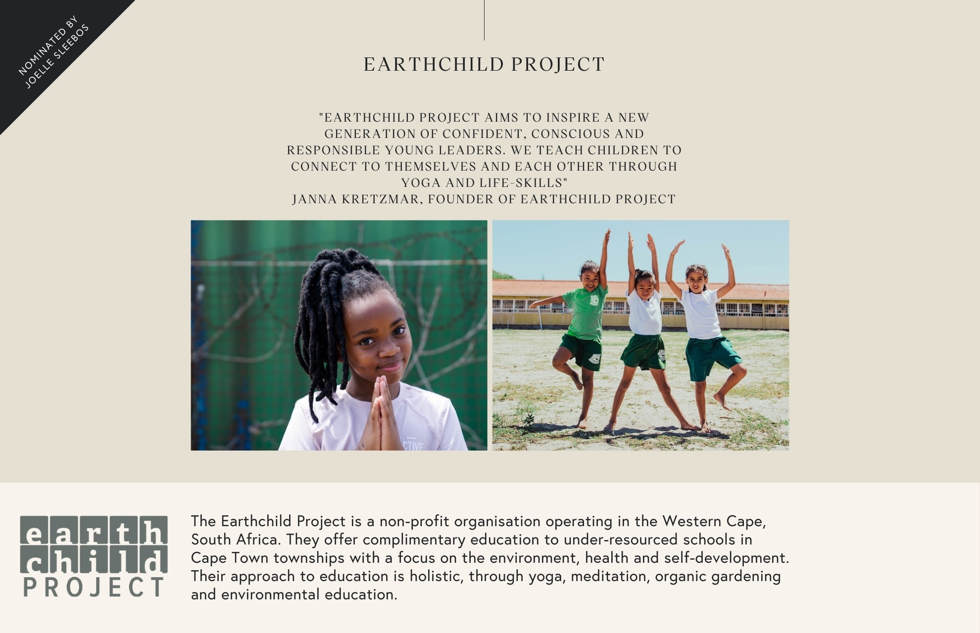 Manduka Earth Child Project