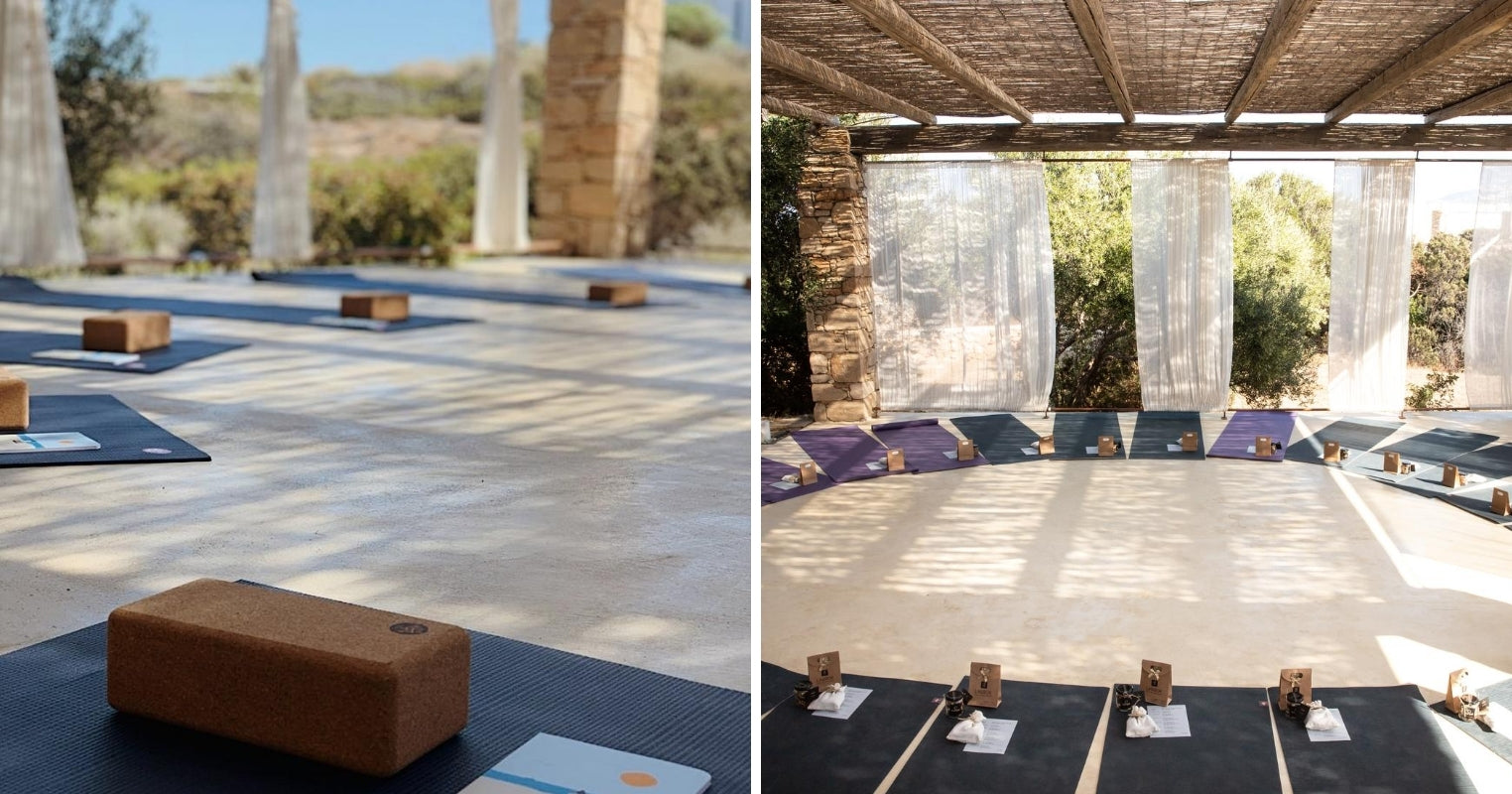 Manduka Equipment at Fykiada Retreats