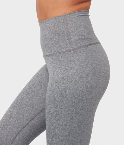 Floral Print Fold-Over Cozy Lightweight Heather Gray-Brown Yoga Dance Pants