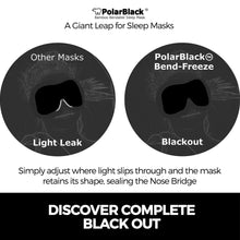 Load image into Gallery viewer, PolarBlack Bamboo Sleep Mask with Nose Bridge Seal