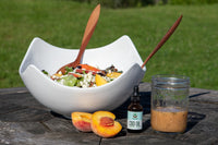 Recipe Corner: Peach Salad with CBD Lemon Vinaigrette