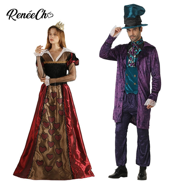 Queen of Hearts & Mad Hatter Halloween Costumes