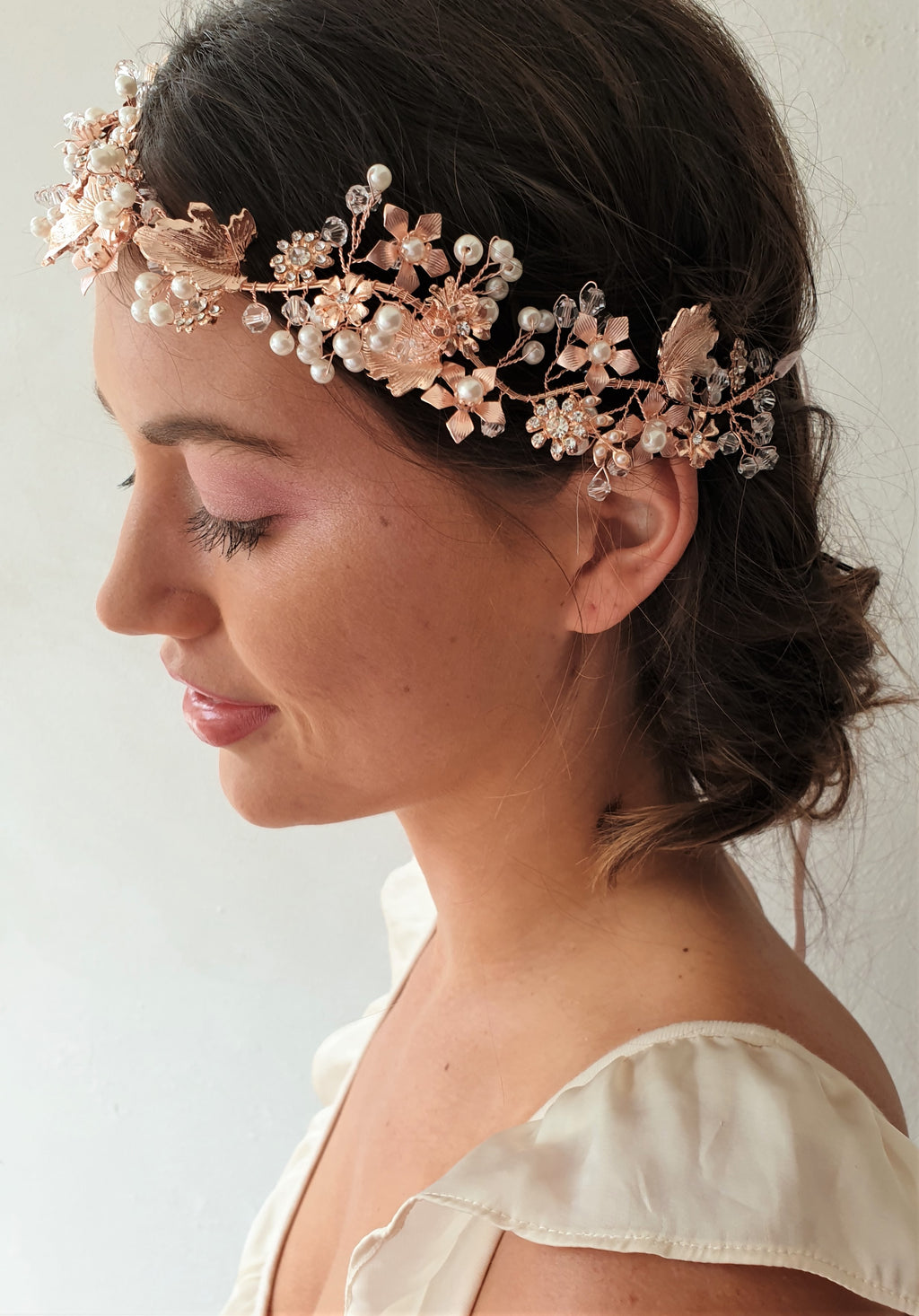 THE EDIE ROSE GOLD HAIR WREATH