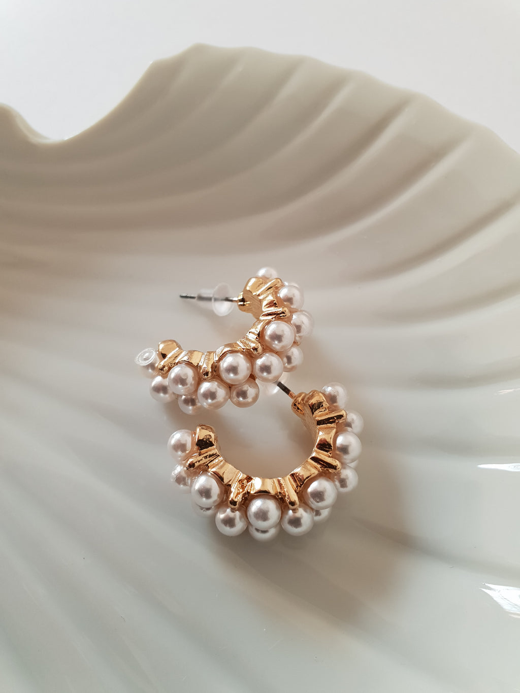 THE CLARA PEARL CLUSTER HOOPS