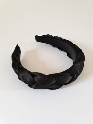 SATIN PADDED BAND - BLACK