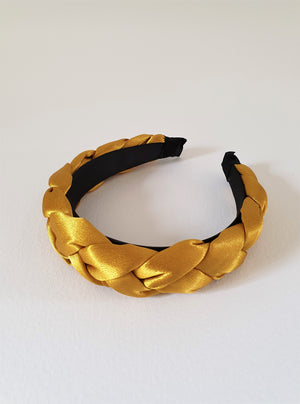 SATIN PADDED BAND - CANARY GOLD