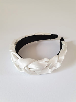 THE ISLA SATIN PADDED BAND - WHITE