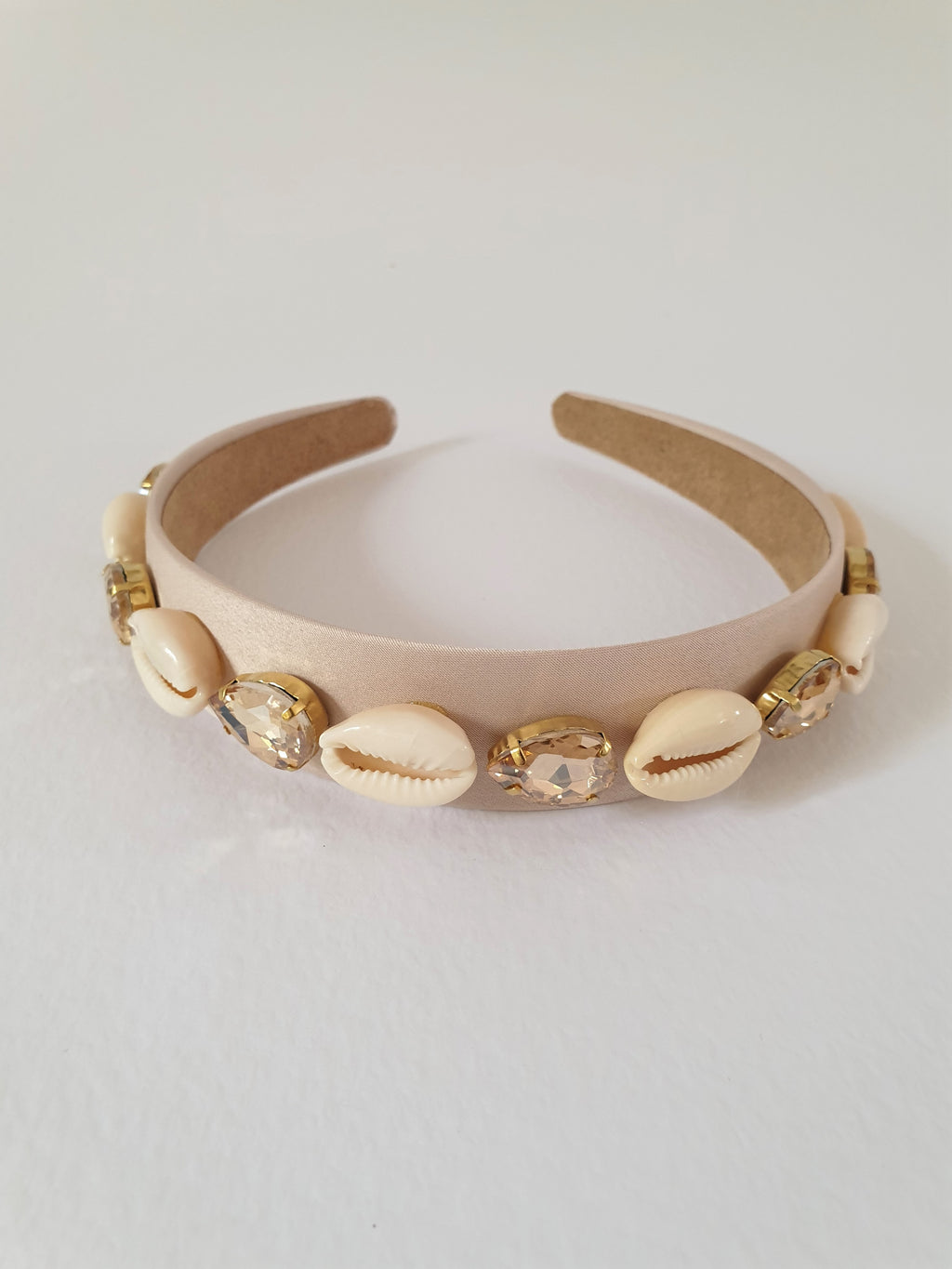 COWRIE SHELL AND CRYSTAL ALICE BAND