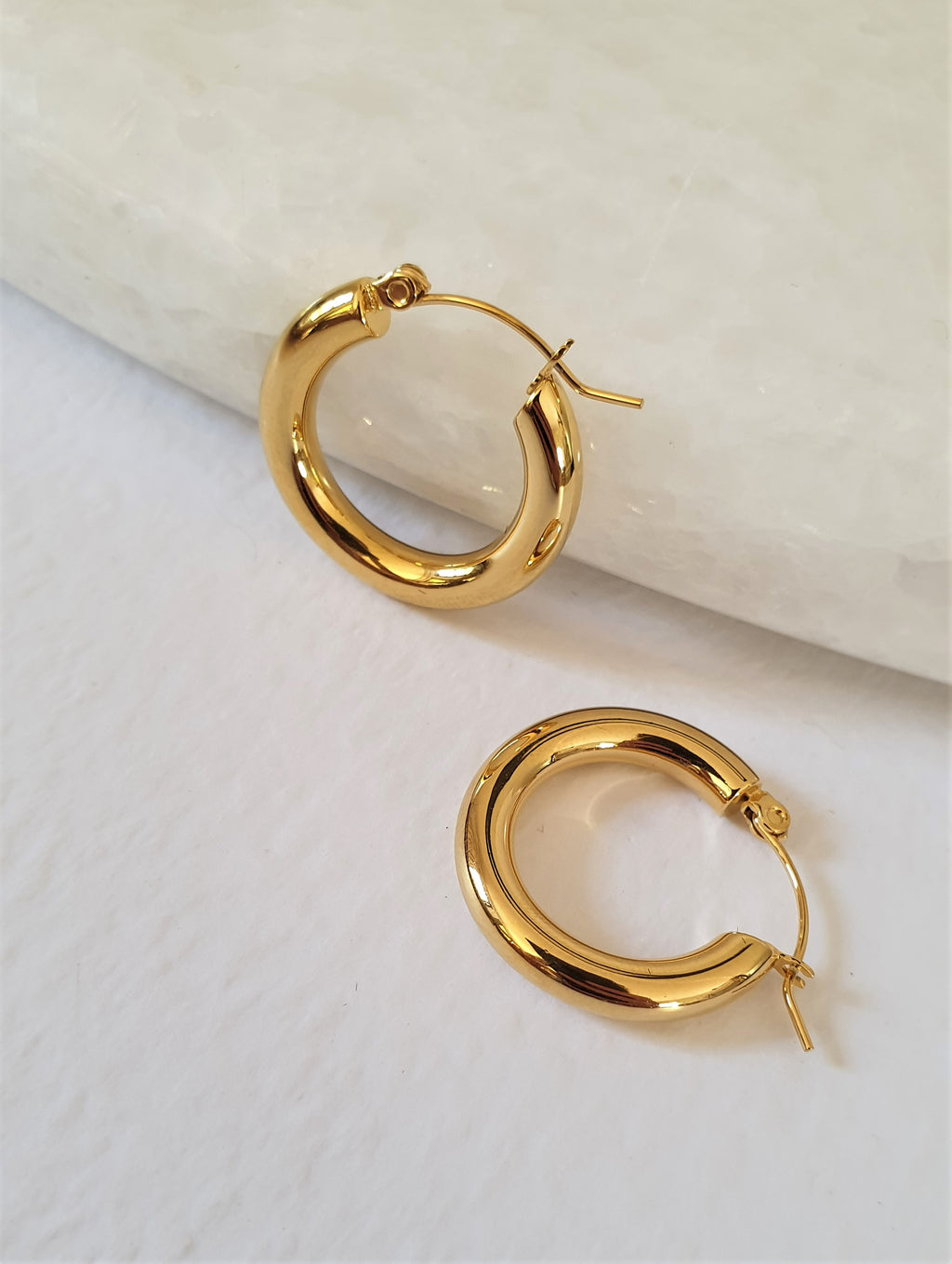 THE ELANA GOLD PLATED HOOPS