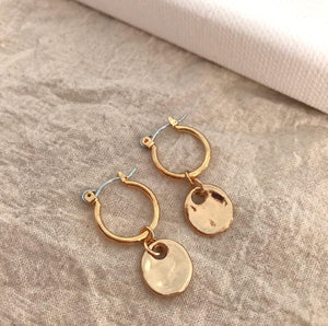 THE BETHANY GOLD-PLATED HOOPS